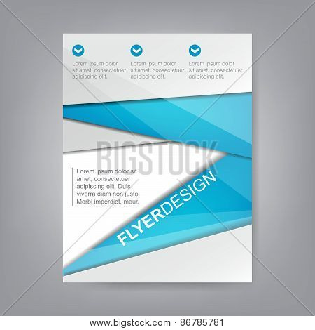Flyer design, brochure template or corporate banner