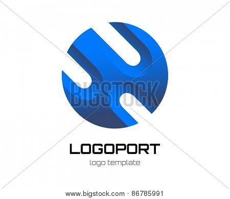 Abstract new vector logo template for branding and design
