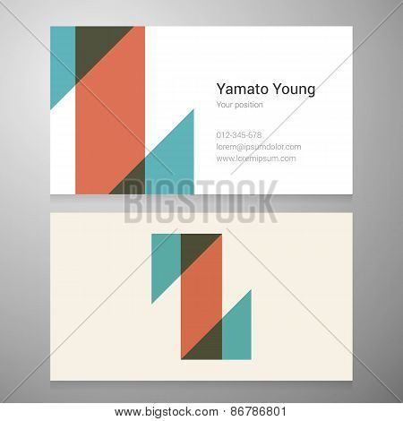 Vintage Letter Z Icon Business Card Template