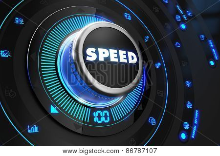 Speed Controller on Black Control Console.