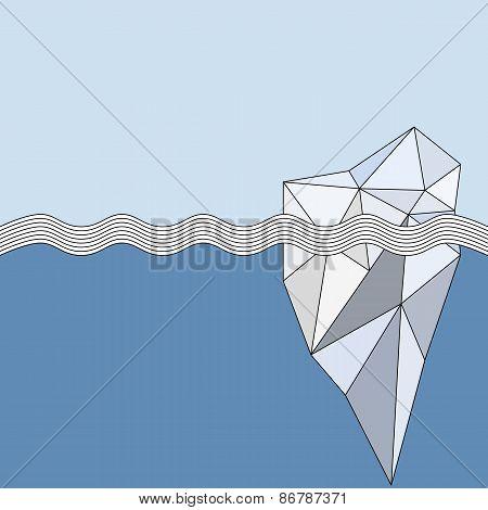 Geometric Iceberg background