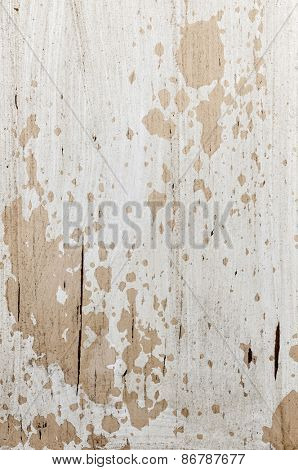 Old weathered chipped painted wood as grunge background