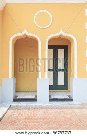 The Doors Of European Style Building At Niwet Thammaprawat Temple