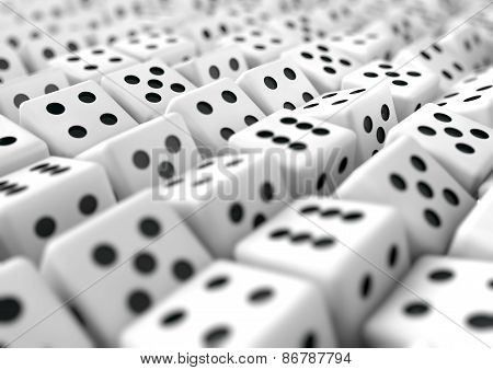 Multiple Dice Gambling Business Background For Presentation