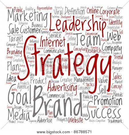 Vector concept or conceptual leadership marketing or business