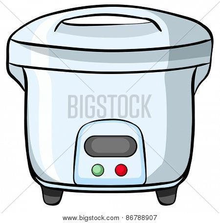 Close up electric rice cooker