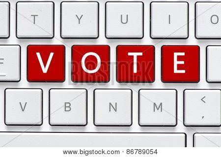 Keyboard with vote button