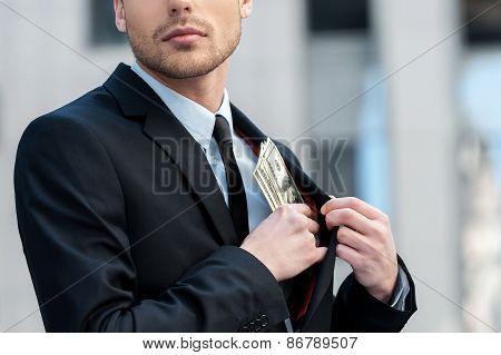 Pocketing Company Money.