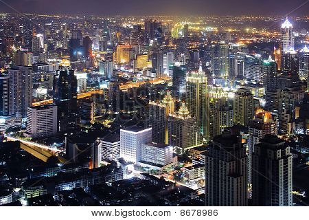 Thailand Skylines and skyscraper at Dusk