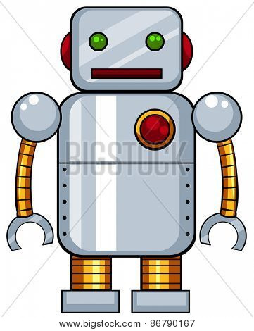 Close up tin toy robot
