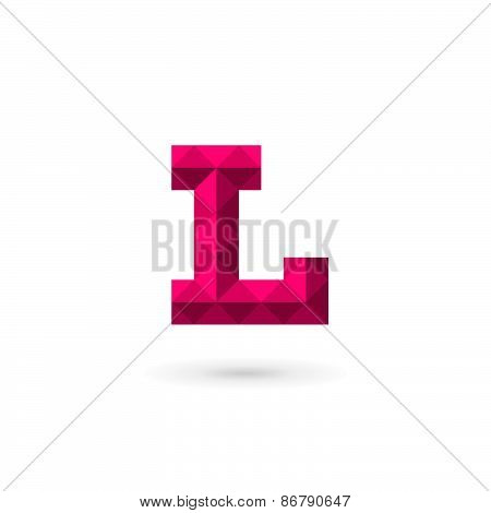 Letter L Mosaic Logo Icon Design Template Elements