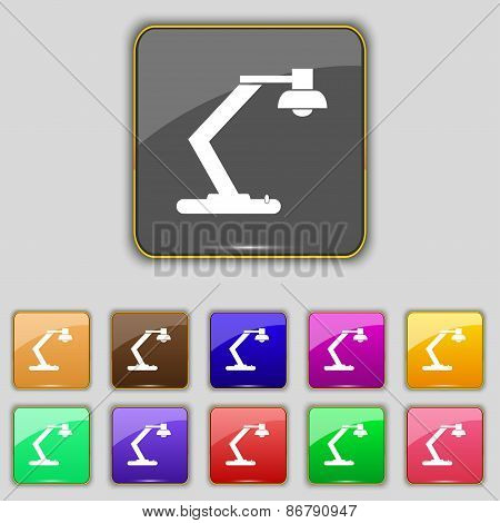 Light, Bulb, Electricity Icon Sign. Set With Eleven Colored Buttons For Your Site. Vector