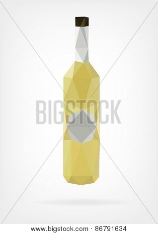 Low Poly Liquor Bottle