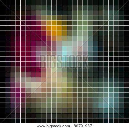 Abstract vector mosaic