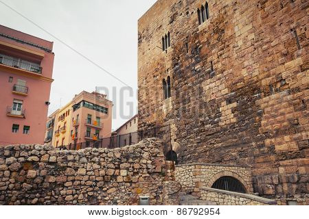 Ancient Roman Forum Of Tarragona City. Catalonia, Spain