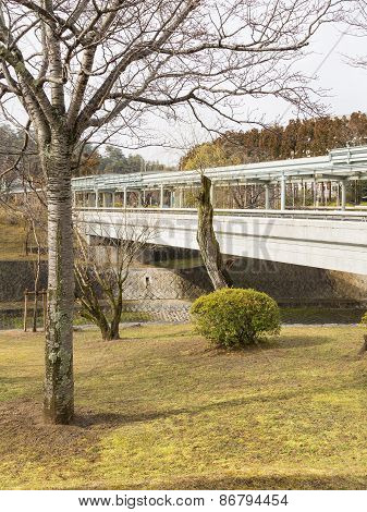 Pedestrian Bridge Over The River
