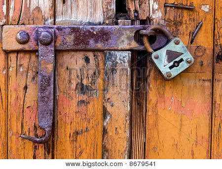 Old Door Locked