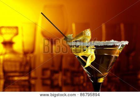 Martini With Lemon
