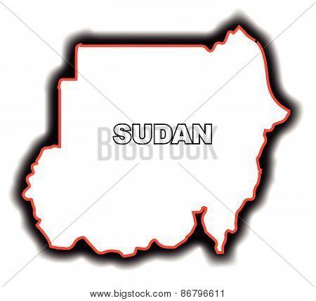 Outline Map Of Sudan