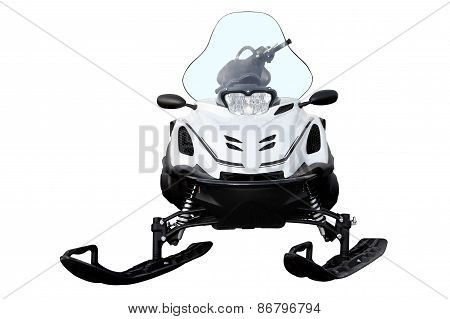 White Snowmobile.