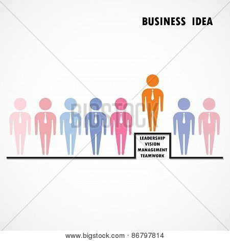 Businessman Standing Out From The Crowd. Business  Idea And Leadership Concept.