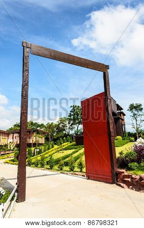 The gate to the farm