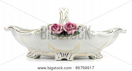 Porcelain Vase  On White Background