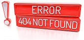 stock photo of not found  - Error 404 Not Found  - JPG