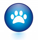 stock photo of webbed feet white  - foot computer button symbol  on white background - JPG