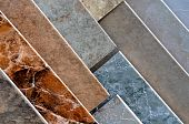 image of ceramic tile  - Ceramic Tile Samples at Home Improvement Store - JPG