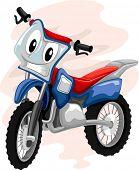 image of motocross  - Mascot Illustration of a Motocross Bike Grinning Mischievously - JPG
