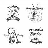 picture of dust-bin  - Set of vintage logos - JPG