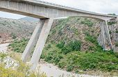 image of south-western  - New road bridge over the Gouritz River between Riversdale and Mosselbay in the Western Cape Province of South Africa - JPG