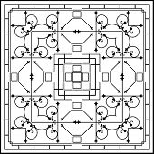 image of wrought iron  - Wrought Iron Fireplace Grill Vector Art - JPG