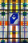 stock photo of stained glass  - Shot of a modern stained glass creation - JPG