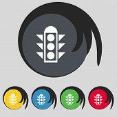 stock photo of traffic signal  - Traffic light signal icon sign - JPG