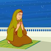 foto of namaz  - Religious Muslim lady - JPG