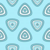picture of blue things  - Abstract Seamless pattern with triangle in marine blue  light and  in  Ethnic style for decorate different things - JPG