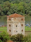 foto of octagon  - octagonal Nebojsa Tower Kalemegdan Fortress - JPG
