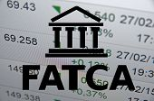 stock photo of accountability  - (FATCA) Foreign Account Tax Compliance Act. Concept with building icon. - JPG
