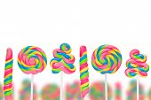 picture of lolli  - Fantasy sweet candy land with lollies isolated on white background - JPG