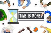 picture of time study  - Time Money Hour Glass Casual People Concept - JPG