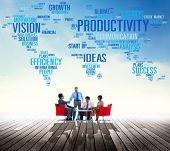 stock photo of productivity  - Productivity Vision Idea Efficiency Growth Success Solution Concept - JPG
