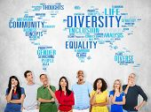 pic of racial diversity  - Diversity Ethnicity World Global Community Concept - JPG