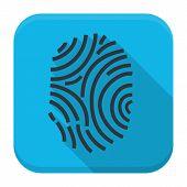 picture of fingerprint  - Fingerprint app icon with long shadow - JPG