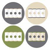 picture of mattress  - Mattress Structure Icons Set - JPG