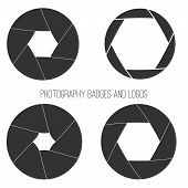 foto of mass media  - Vector collection of photography logo templates - JPG