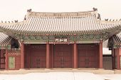 foto of seoul south korea  - The Gate of Gyeongbokgung Palace famous place in Seoul South Korea - JPG