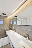 pic of bathroom sink  - luxury bathroom estate home with sink and shower - JPG