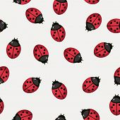 pic of ladybug  - Seamless pattern background with ladybugs - JPG